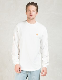 10.DEEP White L/S Dotted Scoop Bottom T-Shirt Picture