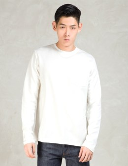 A.P.C. White Lumber L/s Pocket T-shirt Picture