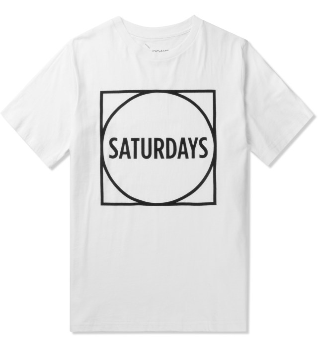 SATURDAYS NYC White Circle Square T-Shirt