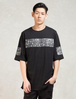 STAMPD Black 3/4 Sleeve Carrara Print T-Shirt Picture