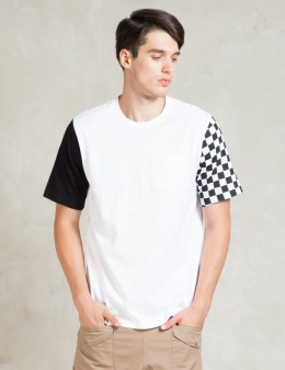 LIFUL White Block Checkmate T-Shirt Picture