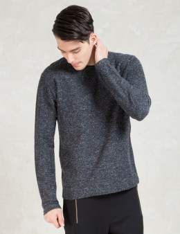 A Question Of Navy Raw Edges Sweater Picture