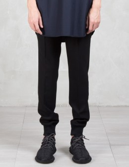 LAD MUSICIAN Wool Gabardine Rib Slim Pants Picture