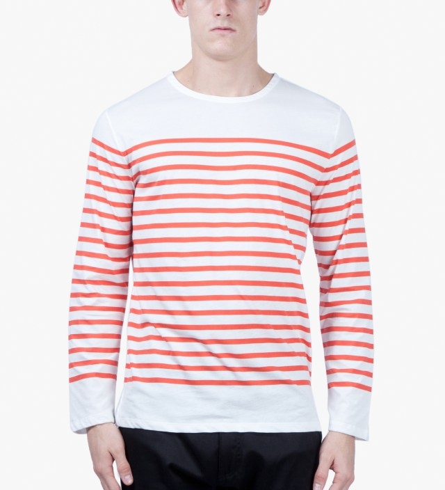 A P C Red Long Sleeve Traditional Sailor T Shirt Hbx