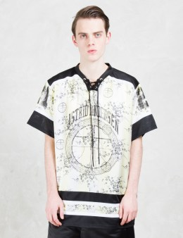 ASTRID ANDERSEN Neon Hockey S/S T-Shirt With Drawsting Neck Opening Picture