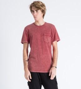 HUF Red Acid Wash Pocket T-Shirt Picture