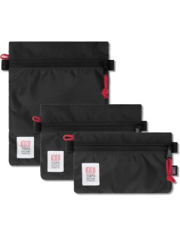TOPO DESIGNS Black Set of 3 Accessory Bags Picture