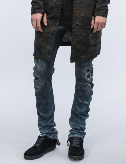 11 By Boris Bidjan Saberi Destroyed Denim Washed Jeans Picture