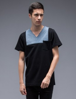 FACETASM Denim Patch V-Neck Pocket S/S T-Shirt Picture