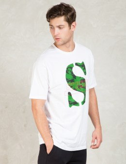 Stussy White Camo S T-Shirt Picture