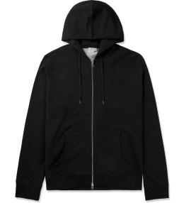 SUNSPEL Black Zip Front Hoodie Picture