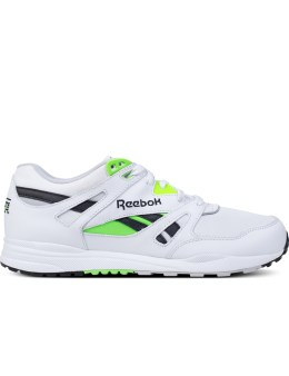 Reebok White/Black/Steel/Solar Green Ventilator Pop Sneakers Picture