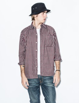 Hombre Nino Burgundy Mesh Panel Shirt Picture