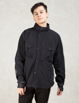 maharishi Black Integrated Transit Jacket Picture