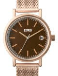 EDWIN Watch Gold With Brown Dial Epic Picture