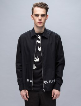 "McQ Alexander McQueen Zip Front ""Run For Your Way"" Shirt Picture"