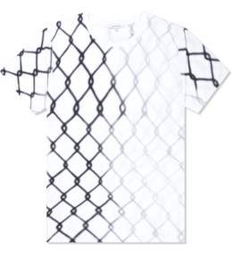CARVEN Black/White Fence Printed Jersey T-Shirt Picture