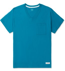 DELUXE Blue Caipirinha Pocket V-neck T-Shirt Picture