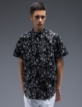 STAMPD Black Calf Hair Underprint Button Down Shirt Picutre