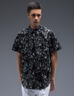 STAMPD Black Calf Hair Underprint Button Down Shirt Picture