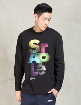 Staple Black L/S Sunburst T-Shirt Picture