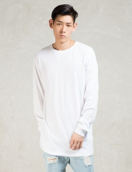 STAMPD White L/S Elongated T-Shirt Picture