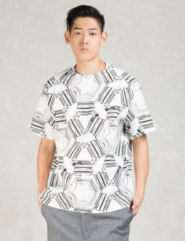 N.Hoolywood White S/S Digital Print T-Shirt Picture