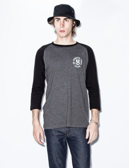 Us Versus Them Charcoal Heather Desert League Raglan Picture