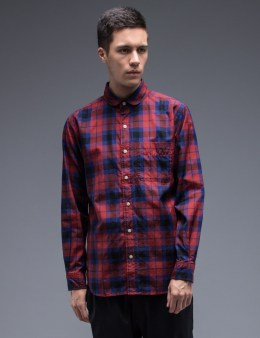 SILAS Round Collor Plaid Shirt Picture