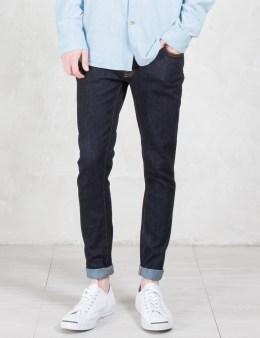 Nudie Jeans Dry Deep Orange Skinny Lin Jeans Picture