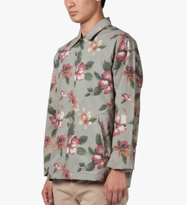 Stussy Khaki Vintage Flower Coach Jacket