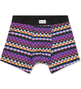 Happy Socks Black/Purple/Pink/Blue/Yellow Zig Zag Boxer Briefs Picture