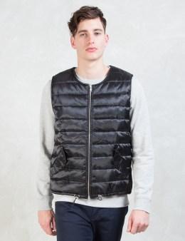 MKI Black Black Nylon Gillet Vest Picture