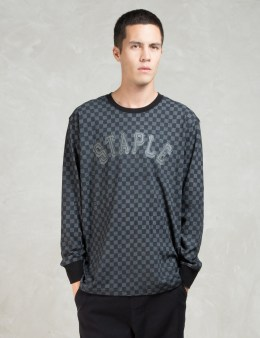 Staple Black L/S Damier T-Shirt Picture