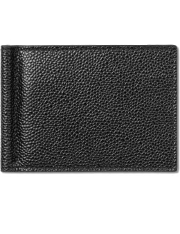 THOM BROWNE Pebble Grain Leather Money Clip Wallet Picture