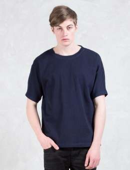 DIESEL BLACK GOLD Taster-gasset Blue Denim Knit Effect T-Shirt Picture