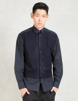 Still Good Black/Navy L/S Layered Button Up Shirt Picture