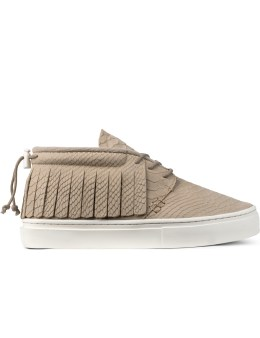Clear Weather Natural Croc Leather The One-o-one Mid Top Sneakers Picture