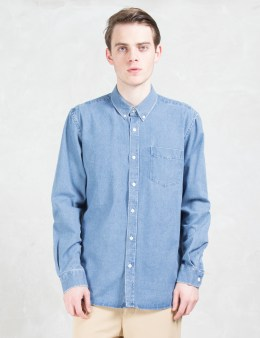 "SATURDAYS NYC ""Crosby"" Denim L/S Shirt Picture"