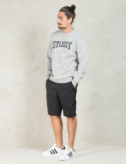 Stussy Grey Heather Burly Int. App. Crewneck Sweater Picture