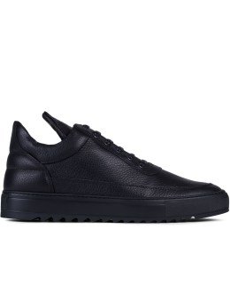 Filling Pieces Low Top Thick Ripple Black Sneakers Picture