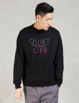 The Quiet Life Black Zig Zag Crewneck Picture