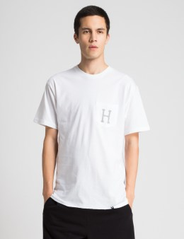 HUF White Classic H Pocket T-Shirt Picture