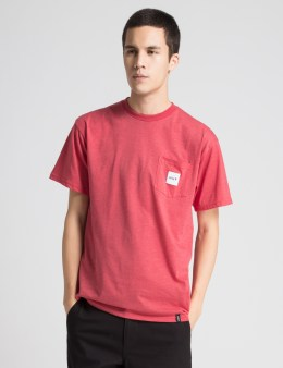 HUF Red Heather Box Logo Pocket T-Shirt Picture