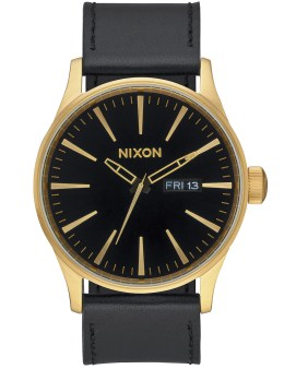 Nixon Sentry Leather with Gold Dial Picture
