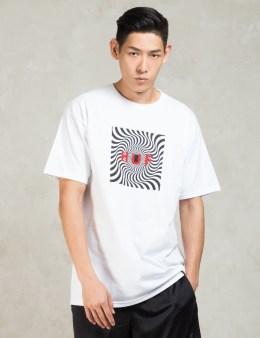 HUF White Spitfire Box Logo T-shirt Picture