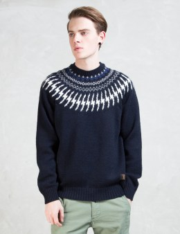 "BEDWIN & THE HEARTBREAKERS ""Danny"" Nordic Jacquard Knit Sweater Picture"