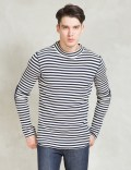 Discovered Navy L/S Border Waffle T-Shirt Picture