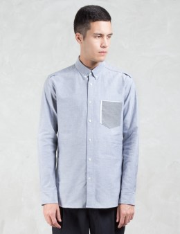 VALLIS BY FACTOTUM Contrast Pocket L/S Shirt Picture