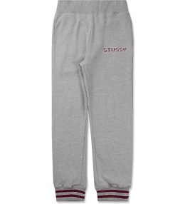 Stussy Heather Grey Stripe Cuff Pants Picture